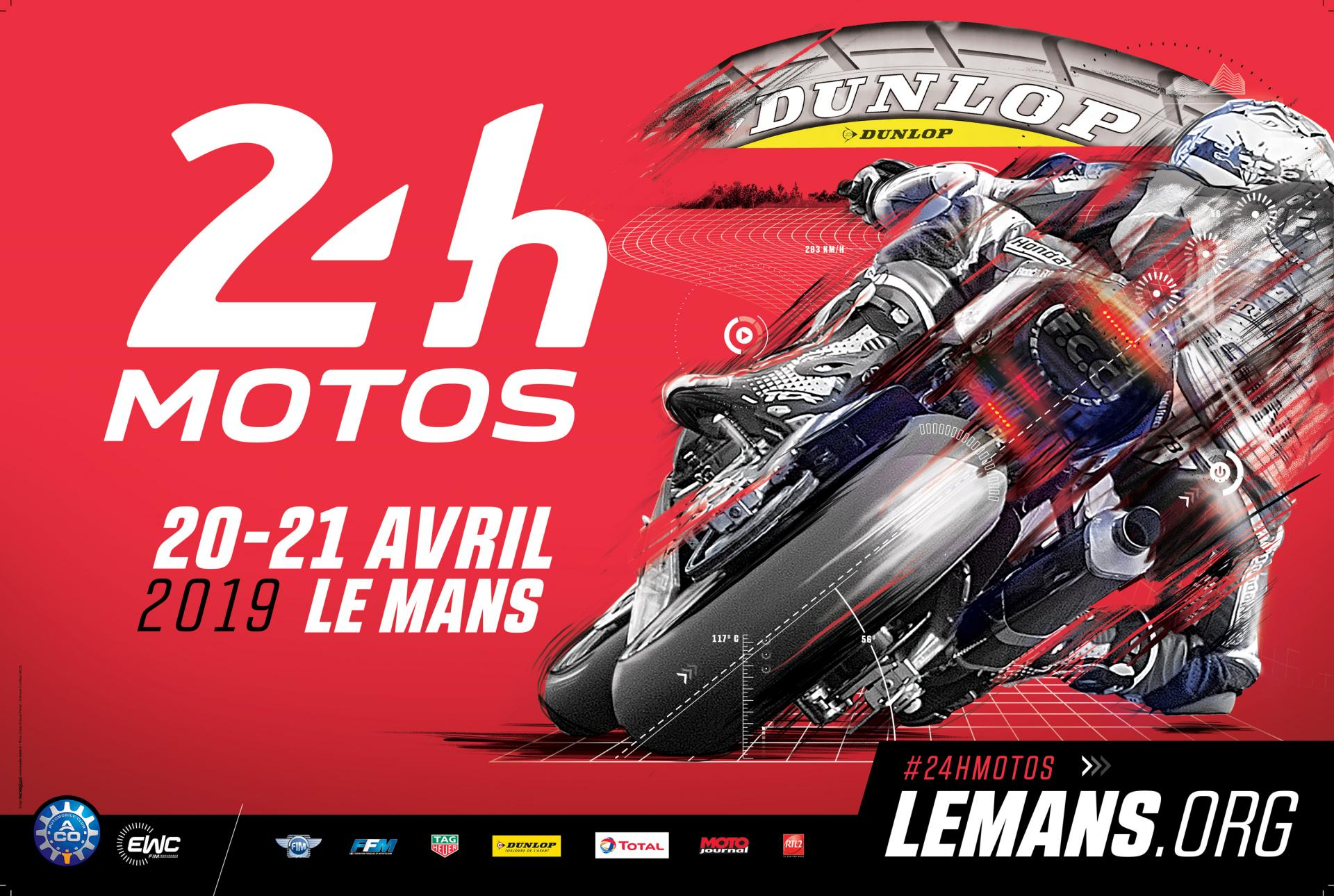 Affiche 24 heures motos 2019
