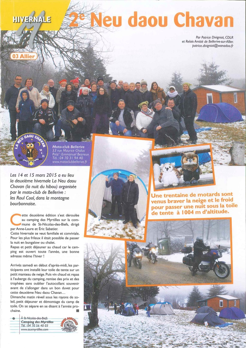 Article presse novembre decembre 2015 journal des motards n96