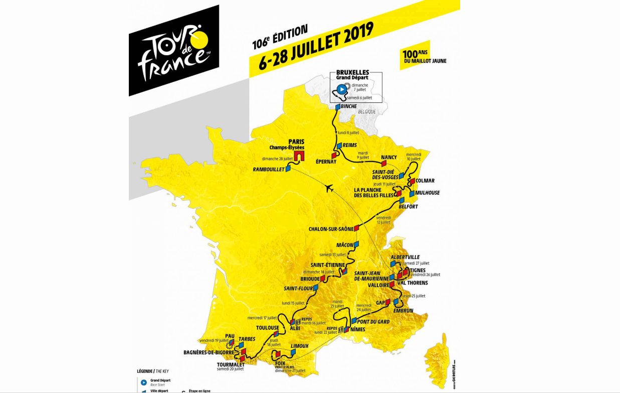 Tour de france 2019 le parcours complet et 10 choses a retenir
